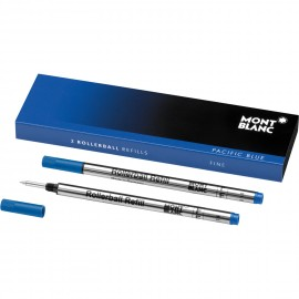 Montblanc 2 Refill per Roller F Pacific Blue - blu 105163