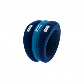 Hip Hop Anello Velvet Touch S-Blue HJ0044