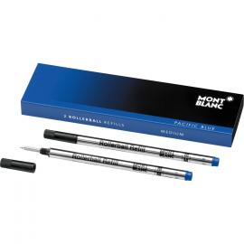 Montblanc 2 Refills for Roller M Pacific Blue - blue 105159