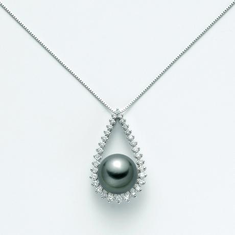 Nimei Tahiti Pearl Necklace and Diamonds PCL4732T