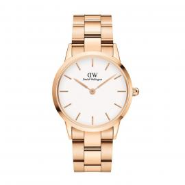 Daniel Wellington Orologio Iconic Link 36 Rose Gold White DW00100209