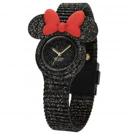Hip Hop Minnie Iconic Black Glitter HWU0966